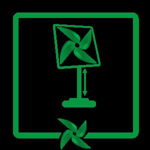 reglare inaltime ventilator cu picior